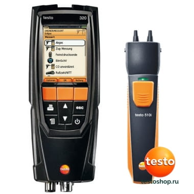 320 + смарт зонд 510i 0563 3225 в фирменном магазине Testo