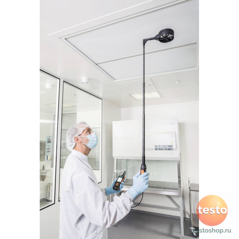 Высокоточный зонд-крыльчатка Testo D 100 мм, включая сенсор температуры