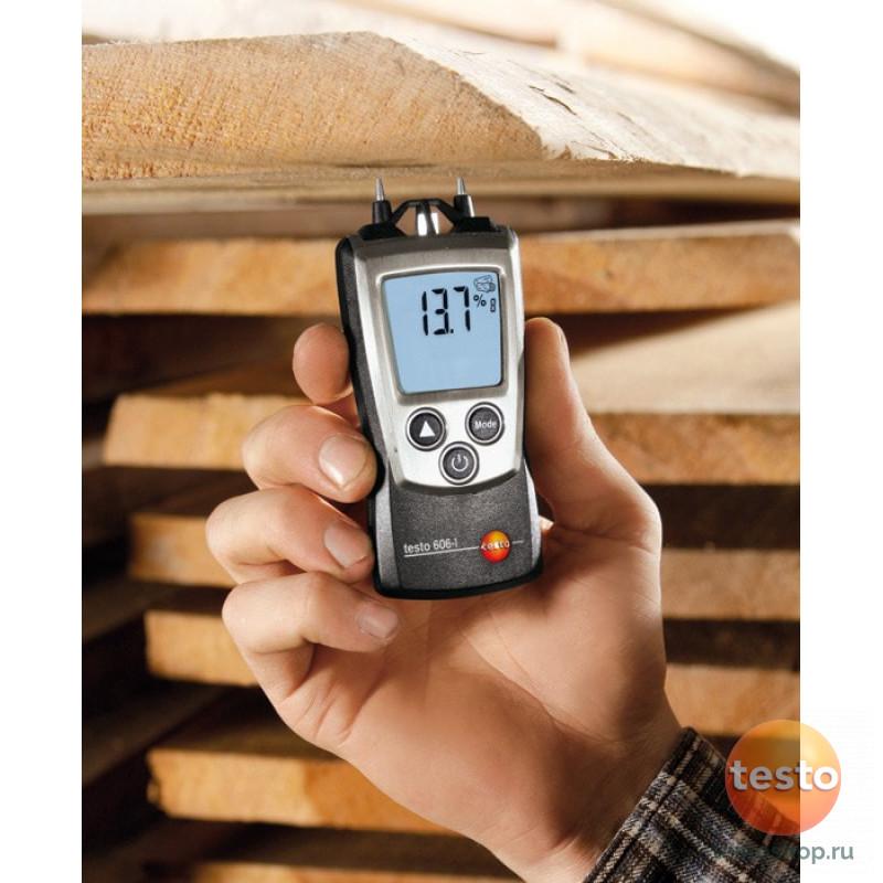 Карманный влагомер древесины и стройматериалов testo 606-2 с поверкой