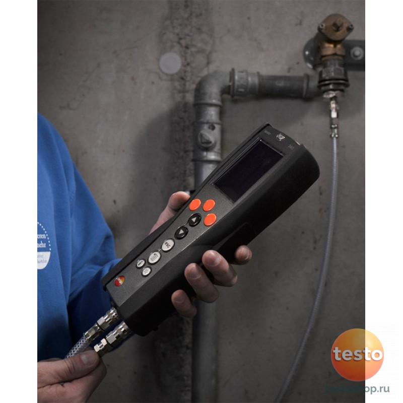 Измерительный прибор для тестирования на герметичность газовых и гидравлических трубопроводов Testo 324