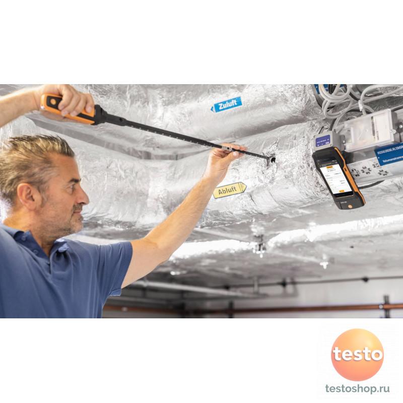 Комплект Testo 400 для вентиляции с зондом с обогреваемой струной