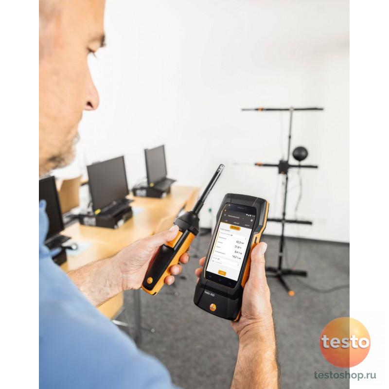 Комплект Testo 400 c Bluetooth для оценки качества воздуха и уровня комфорта в помещении со стойкой
