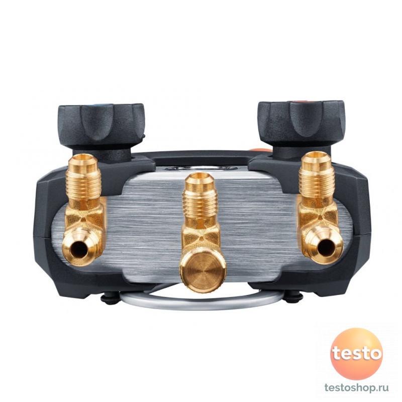 Комплект 1 -Цифровой манометрический коллекторс беспроводными зондами-зажимами для труб (NTC) Testo 550i