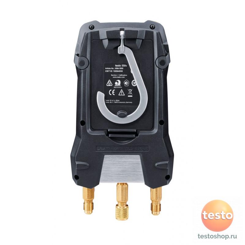 Комплект 1 - Цифровой манометрический коллектори зонды-зажимы температуры с фиксированным кабелем Testo 550s