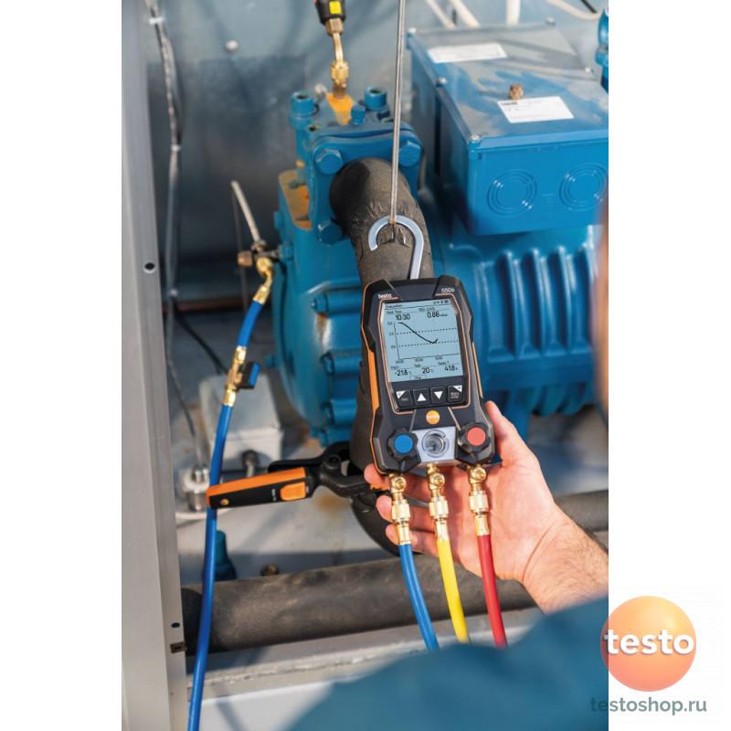 Комплект 2- Цифровой манометрический коллекторбеспроводные зонды-зажимы температуры Testo 550s