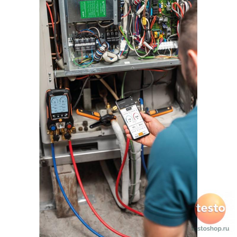 Комплект 1 -Цифровой манометрический коллектори беспроводные зонды вакуума и температуры Testo 557s