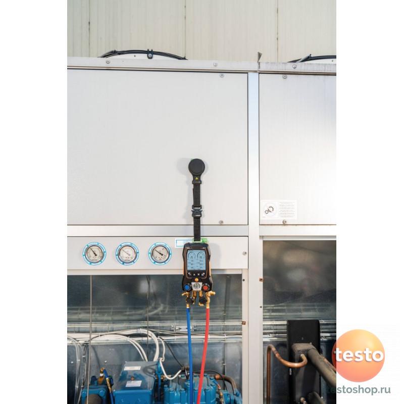 Комплект 2-Цифровой манометрический коллектор, смарт-зонды вакуума и температуры и набор из четырёх заправочных шлангов Testo 557s
