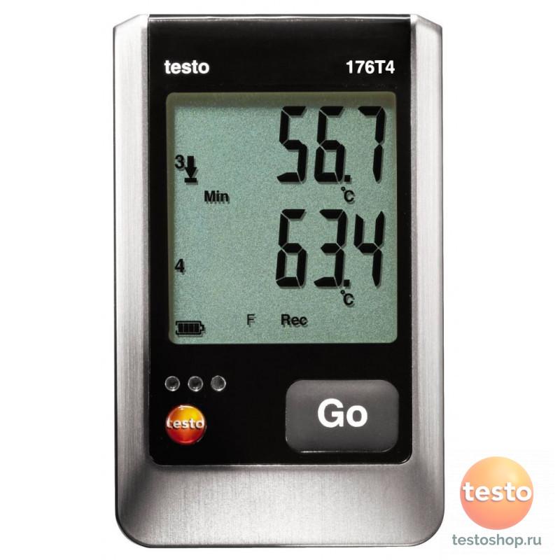 4х - Канальный логгер данных температуры Testo 176 T4