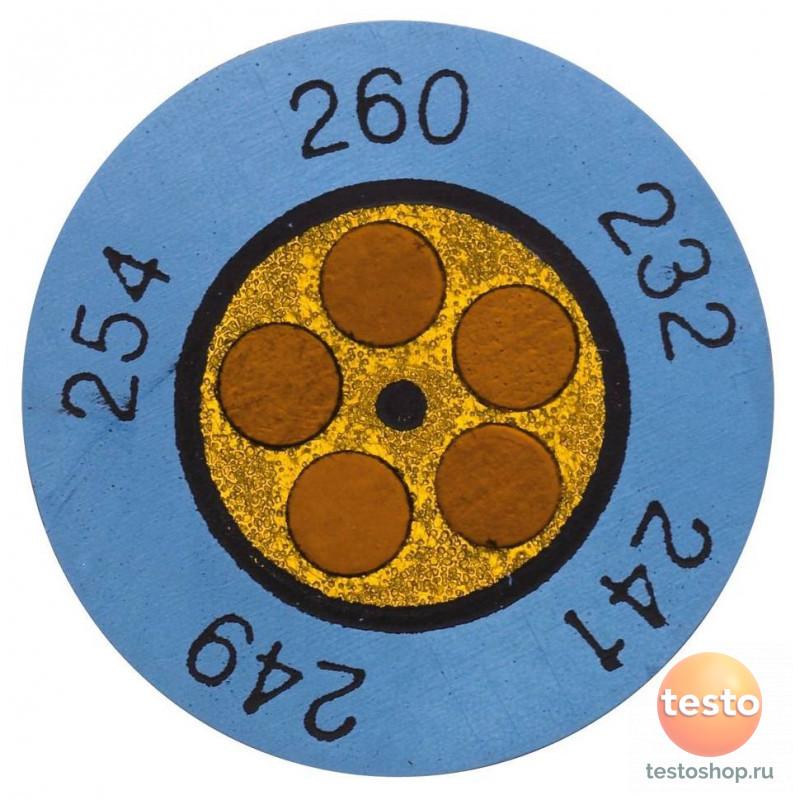 Круглые термоиндикаторы Testoterm измерительный диапазон +143 …  0646 0075 в фирменном магазине Testo