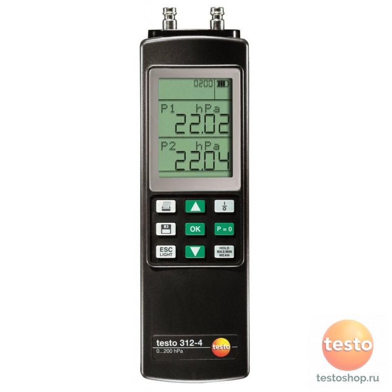 Дифференциальный манометр Testo 312-4