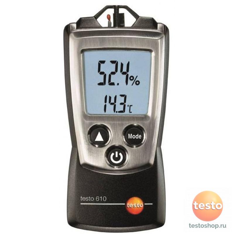 Карманный термогигрометр с поверкой Testo 610