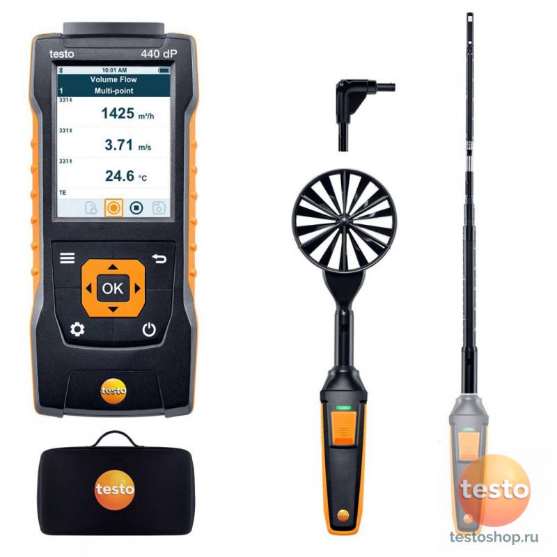 Комплект для вентиляции 1 с Bluetooth Testo 440 Delta P