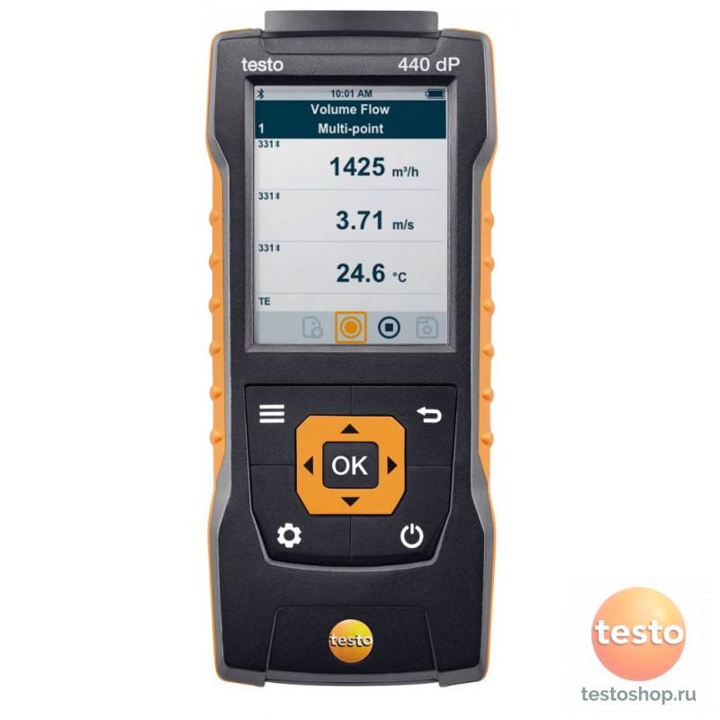 Прибор для измерения скорости и оценки качества воздуха в помещении Testo 440 dP