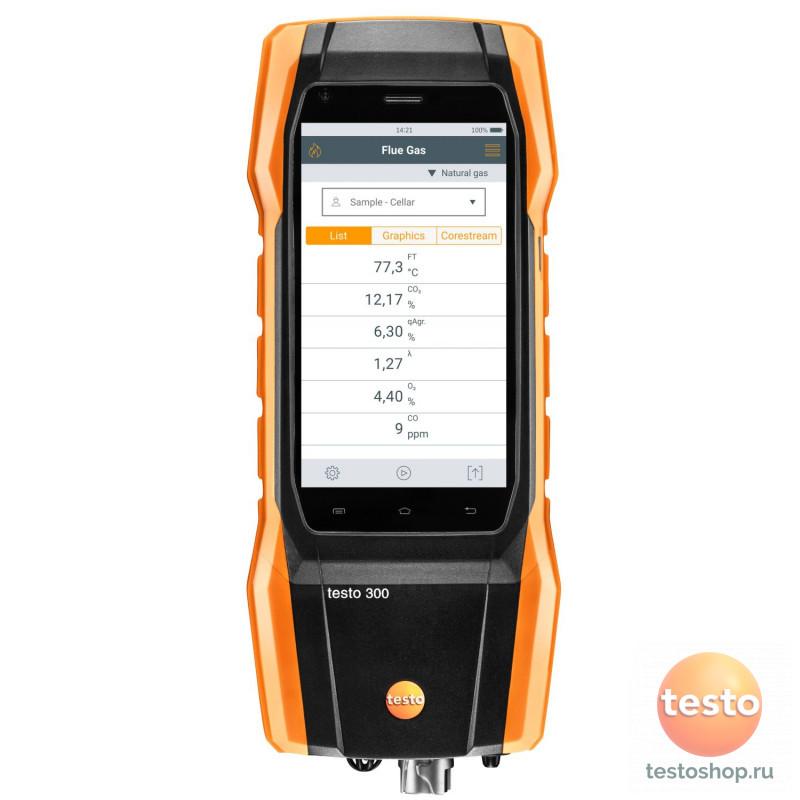 Комплект Testo300 Longlife, O2, СО с H2-компенсацией