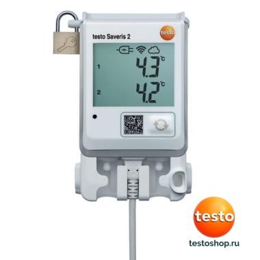 WiFi-логгер данных температуры c 2-мя разъёмами для внешних зондов NTC или дверных контактов Testo Saveris 2-T2