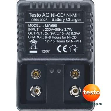 Внешнее зарядное устройство, для 9 В аккумулятора 0554 0025 в фирменном магазине Testo