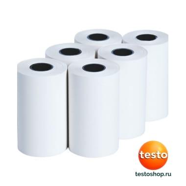 Запасная термобумага для принтера (6 рулонов) 0554 0568 в фирменном магазине Testo